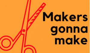 makers gonna make with scissor icon