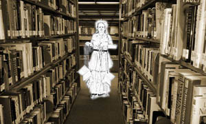 ghost in library