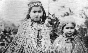 two Native American girls in capes