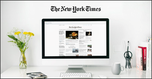 The New York Times on a computer screen