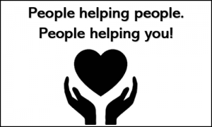 hands around heart - People helping people. People helping you!