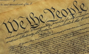 We the People heading on the Constitution