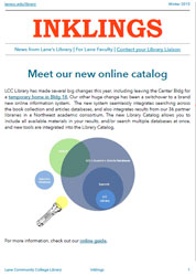 Cover: Meet Our New Online Catalog