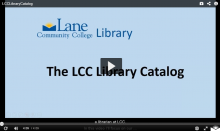 LCC Library Catalog with play button