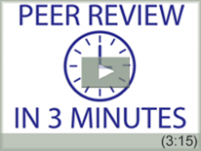 Video: Peer Review in 3 Minutes