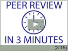 Video: Peer Review in 3 Minutes