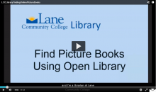Video explaining how to find online picture books using open library